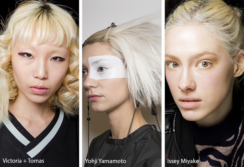 Модели с обесцвеченными волосами