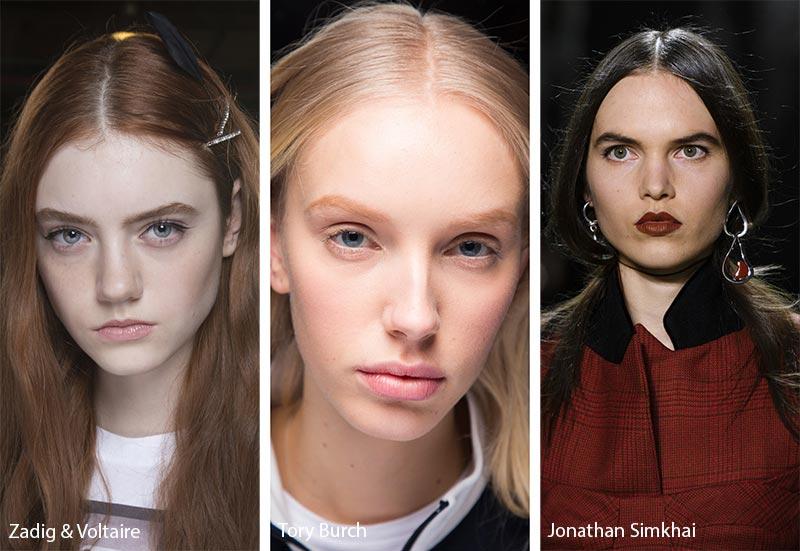 Модели с прямым пробором на волосах, модные прически осень зима