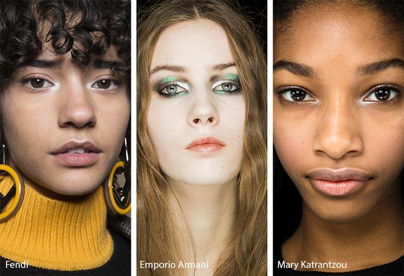 Модели с серебристыми бликами в уголке глаза, тенденции макияжа