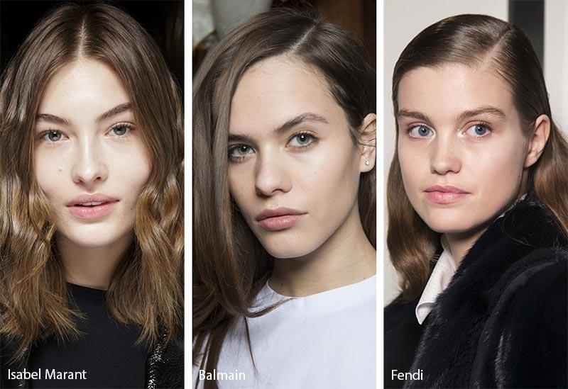Модели с волосами средней длины светло каштанового оттенка