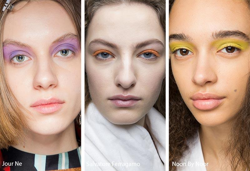 Модели с яркими тенями на глазах, модные тенденции макияжа