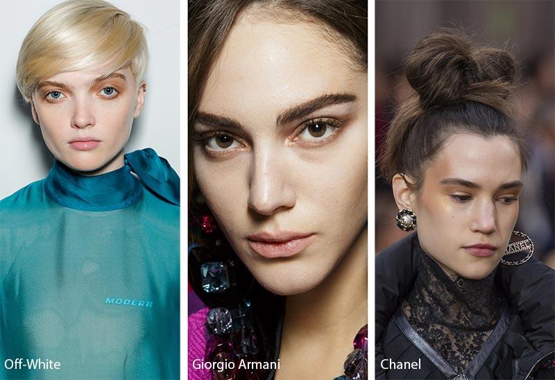 Модели со светло коричневым макияжем глаз