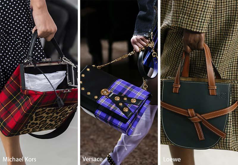 Модные сумки с оттделкой в клетку