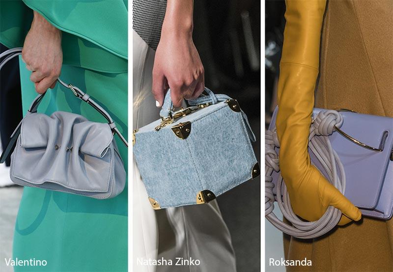 Модные сумки в голубых тонах, осень зима 2018