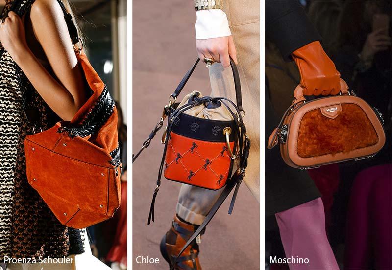 Модные сумки в оренжевых оттенках