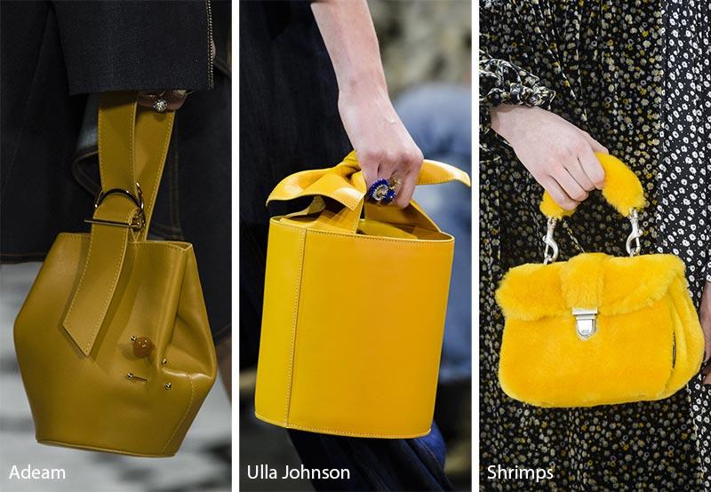Модные сумки в желтых оттенках, осень зима 2018