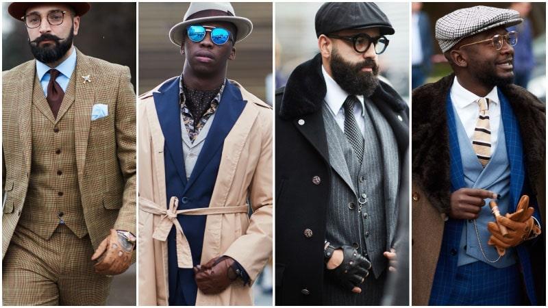 Мужчины в кожаных перчатках, мужскя мода осень зима 2018