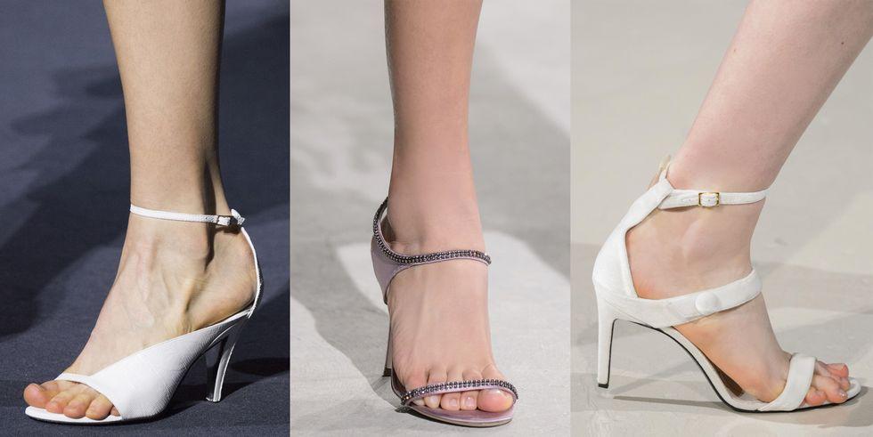 Тенденция обуви осень зима белые босоножки