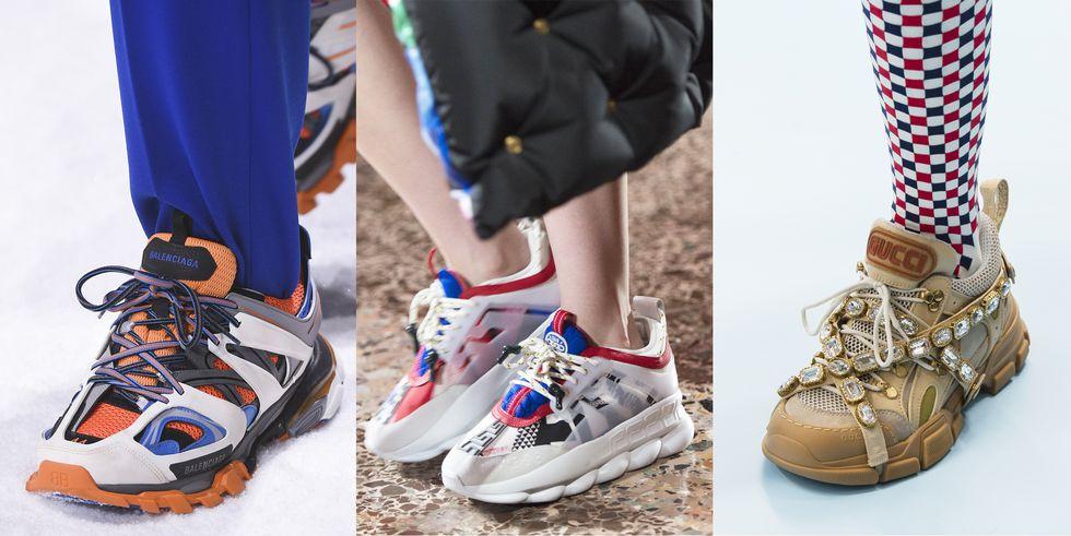 Тенденция обуви осень зима объемные кроссовки
