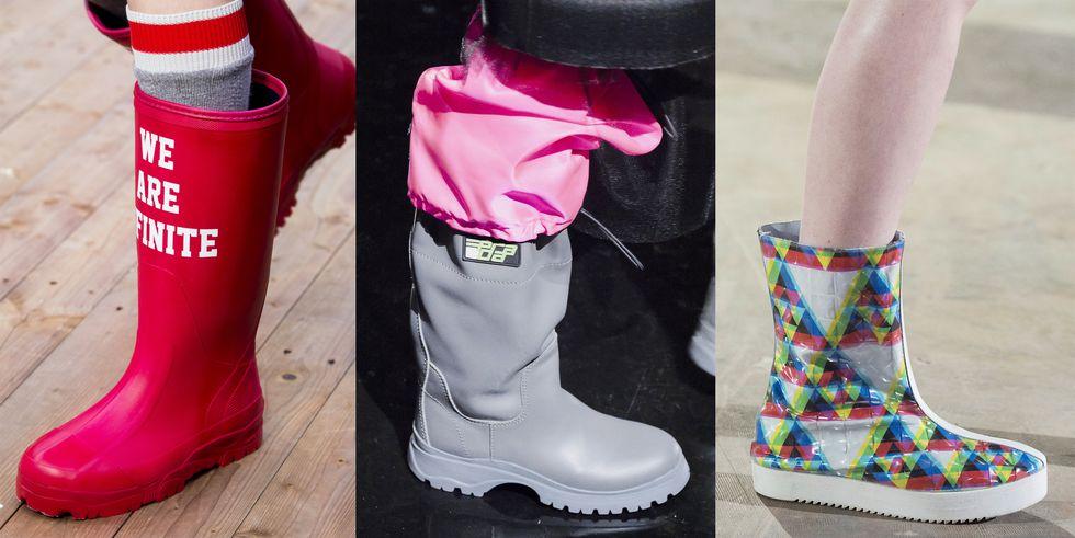 Тенденция обуви осень зима резиновые сапоги