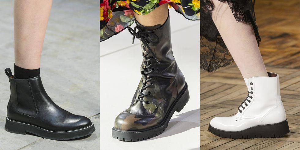 Тенденция обуви осень зима сапоги амфибии