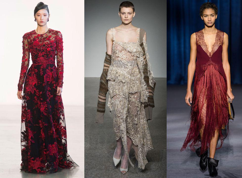 Девушки в красивых кружевных платьях