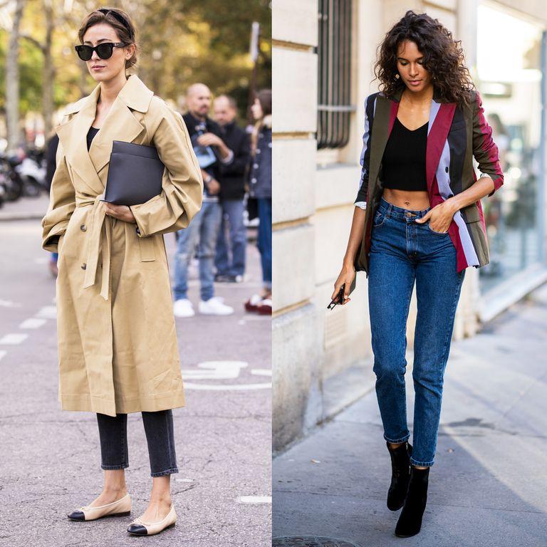 Девушки в укороченных джинсах скинни