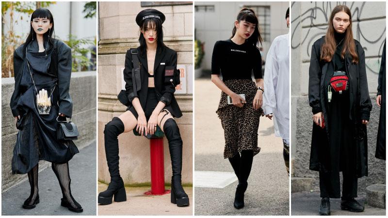 Модные девушки в стиле неоготик
