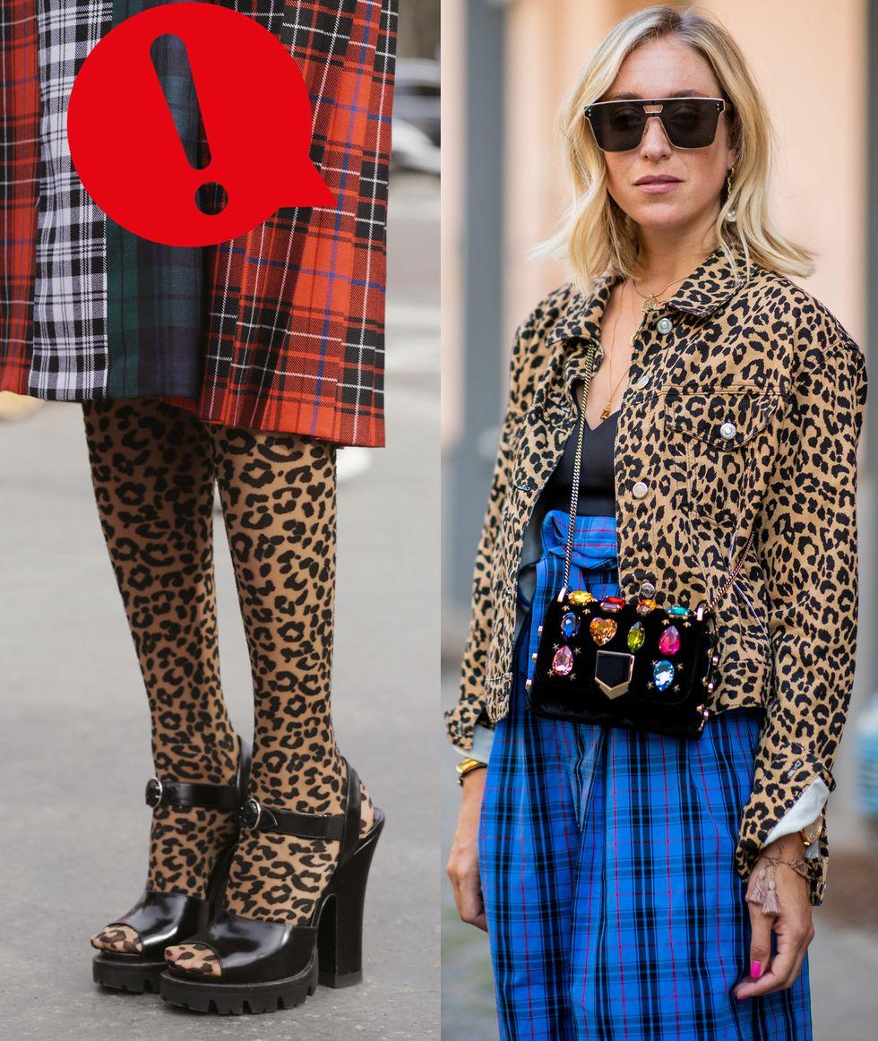 Модные образы с леопардовым принтом и клеткой