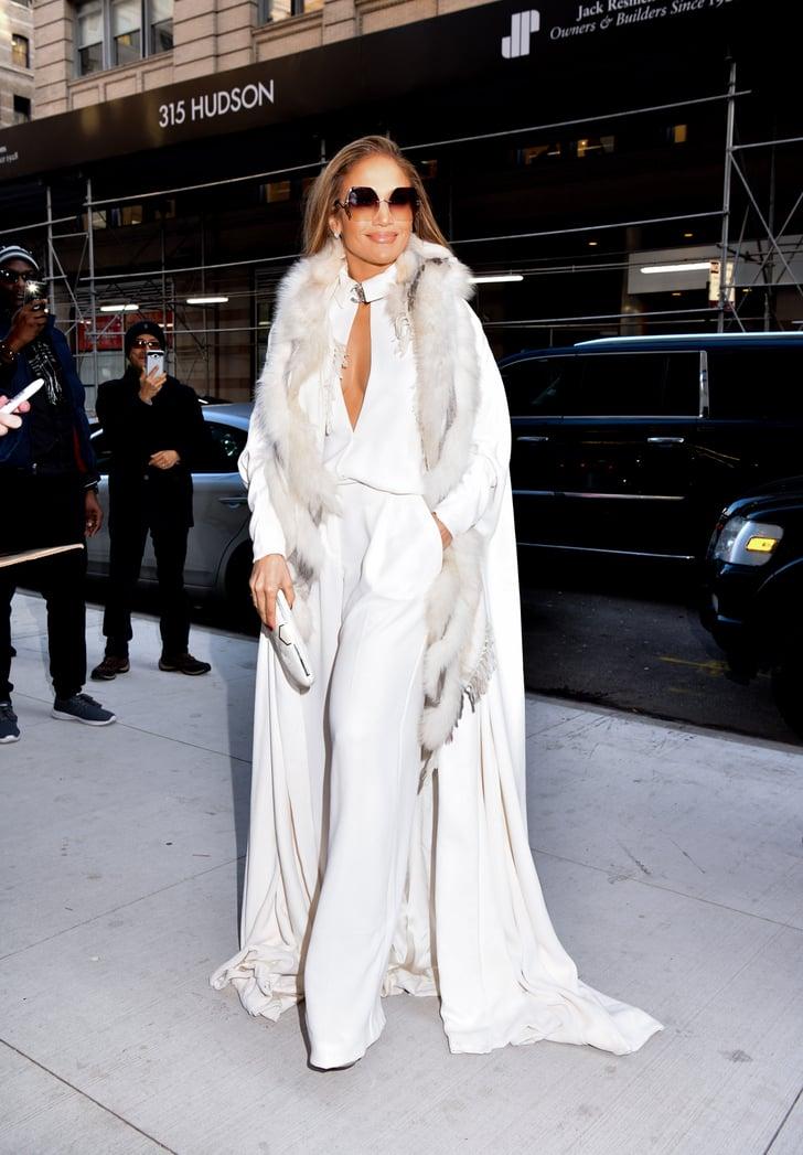 Дженнифер Лопес в полностью белом образе