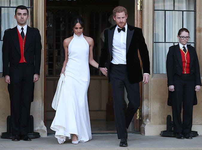 Меган Маркл в нежном белом платье макси