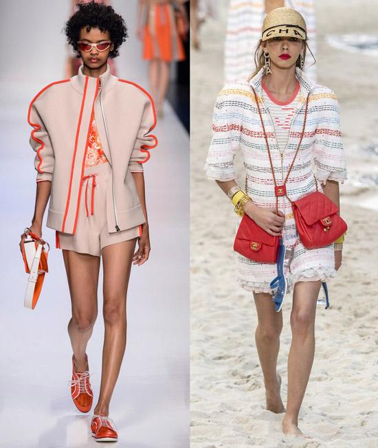 Модели в интересных нарядах весна-лето