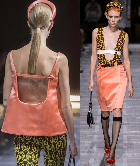 Модели в шикарных нарядах с коралловым цветом