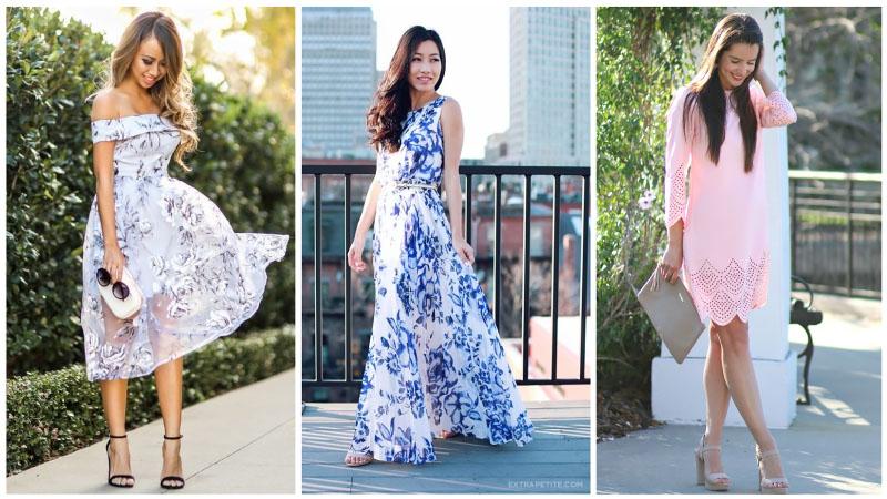 Девушки в нежных весенних платьях