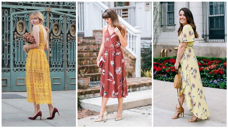 Девушки желтых платьях для свадьбы