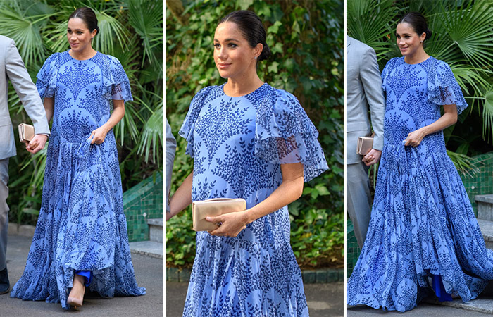 меган маркл в голубом платье макси