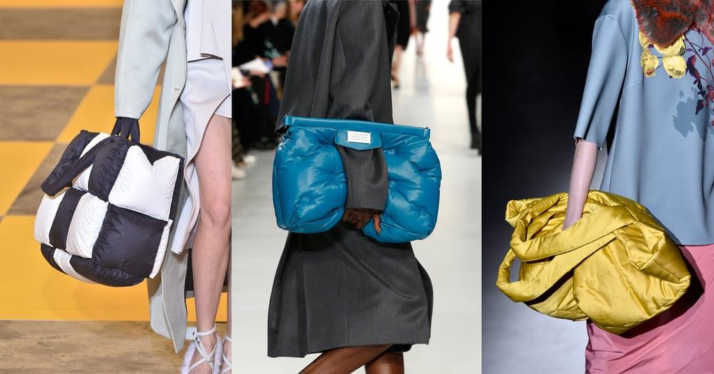 Модели с объемными пуховыми сумками