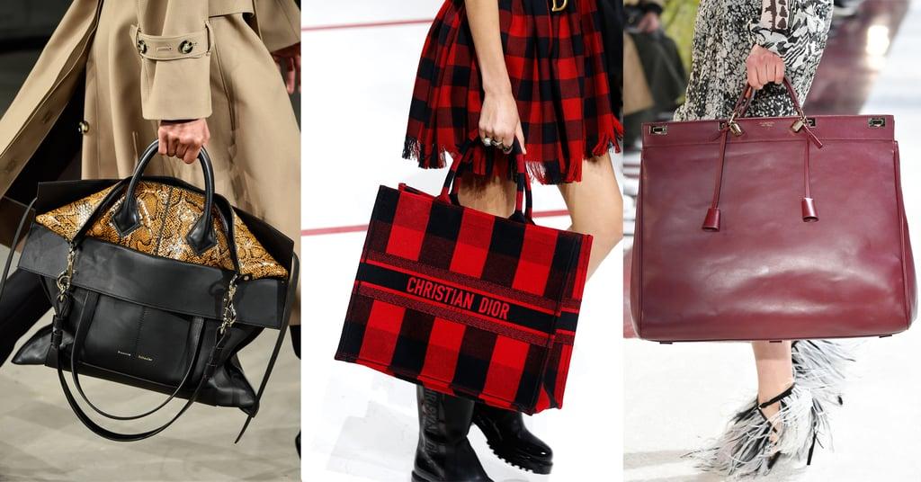 Модели с объемными сумками тоут