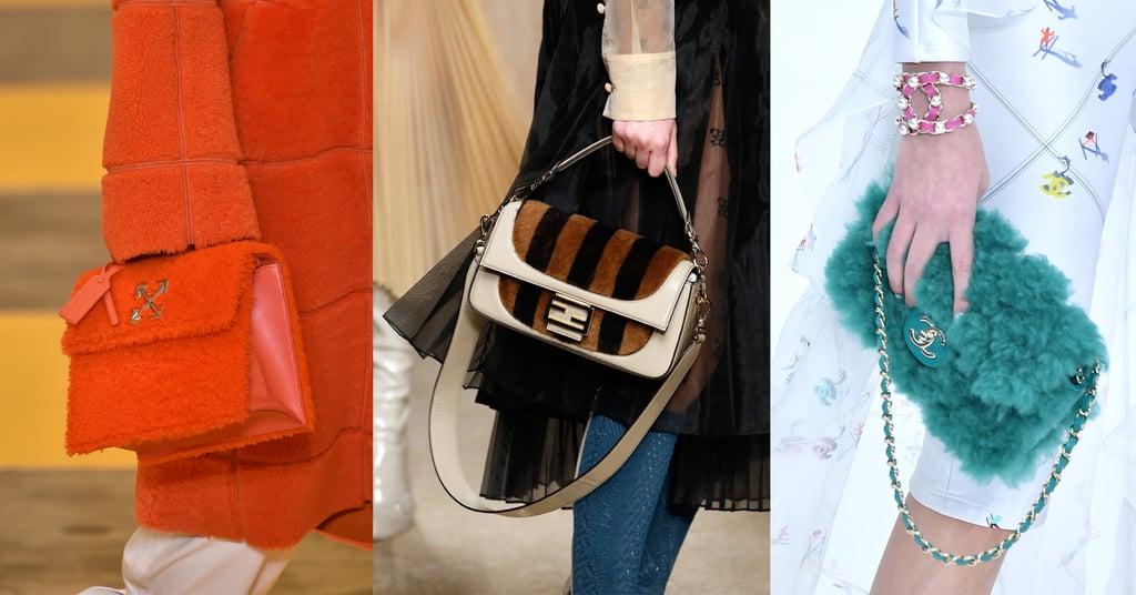 Модели с сумками с шерстью