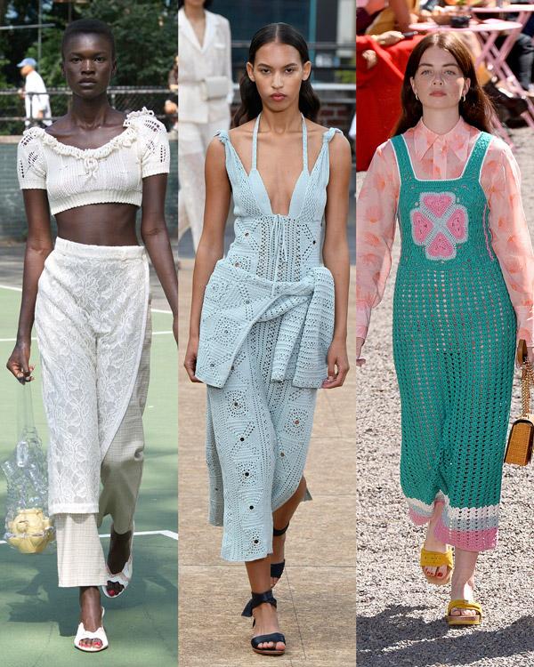 Модели в модных вязаных вещах