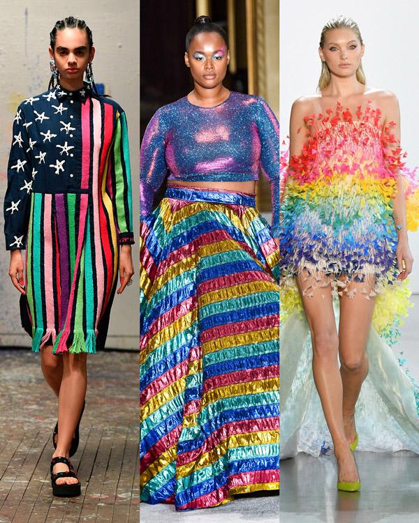 Модели в разноцветных платьях