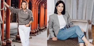 как носить джинсы женщинам за 40 осенью 2019