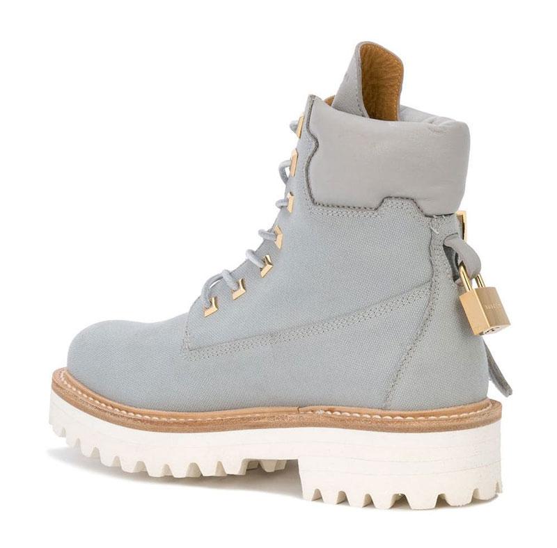 Массивные ботинки BUSCEMI светло-голубого цвета