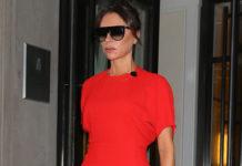 Виктория Бекхэм очаровала нас своим красным платьем и леопардовыми ботильонами