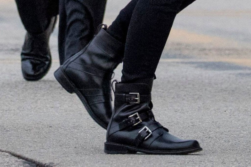 Мелания Трамп в армейских ботинках с тремя пряжками