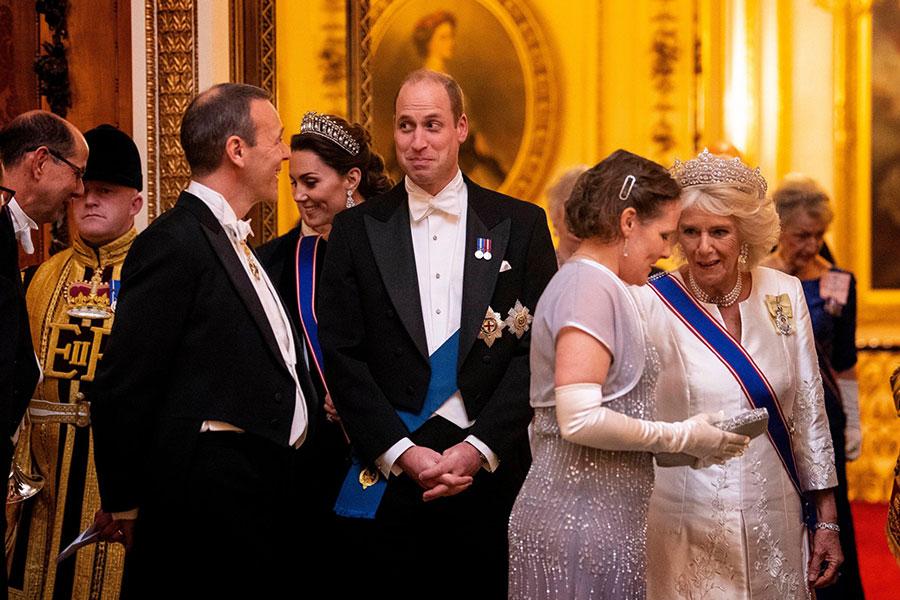 Принц Уильям на приеме в Букингемском дворце