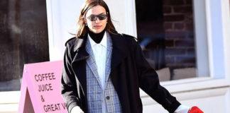 Ирина Шейк демонстрирует стильный многослойный образ во время прогулки в Нью-Йорке