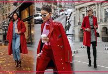 Как сочетать красное пальто: советы уличного стиля для модного образа на весну 2020