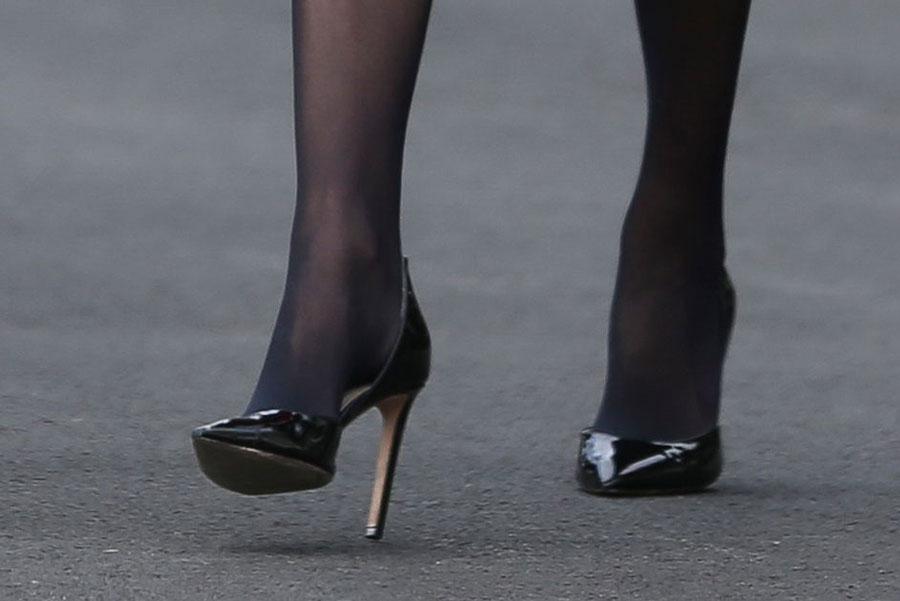 Иванка Трамп в черных лакированных туфлях