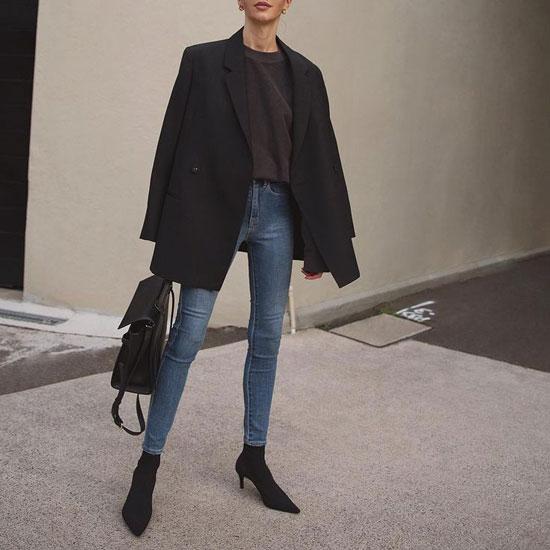 Образы с женским черным пиджаком