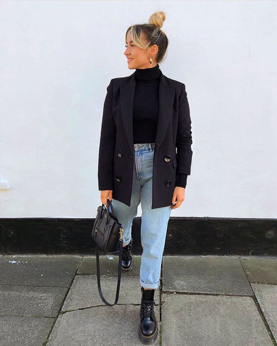 С чем носить черный пиджак весной 2020