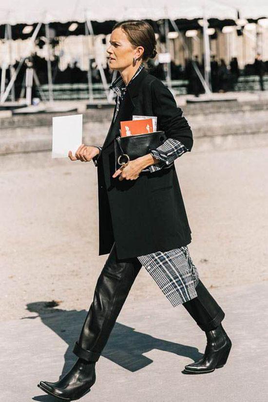 Стильные образы с черным пиджаком для женщин 2020