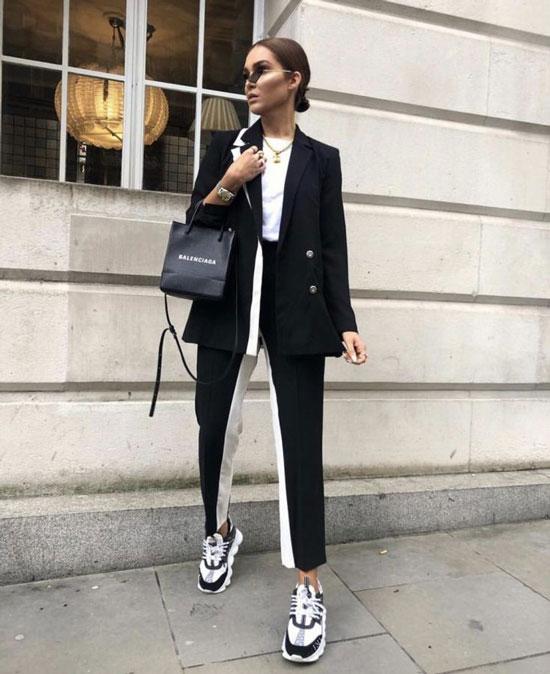 Как модно носить черный пиджак