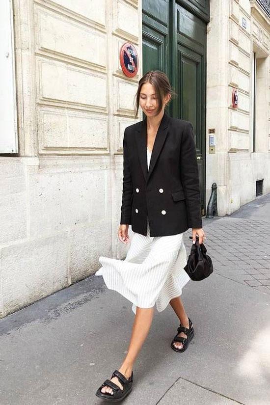 С чем носить черный женский пиджак 2020