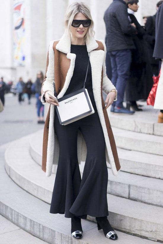 Как стильно носить дубленку весной 2020