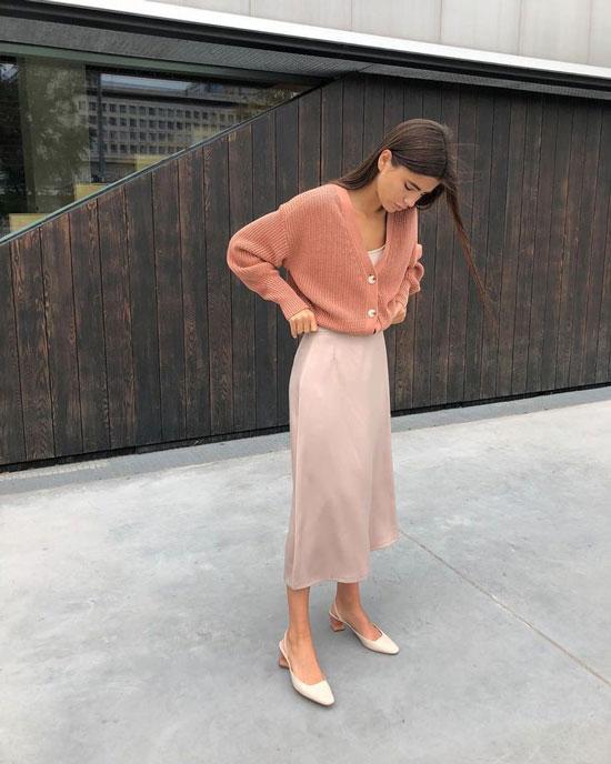 Как носить юбку-миди весной 2020