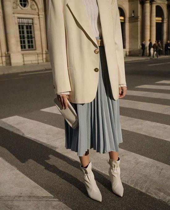 Модные идеи для образов с юбкой-миди