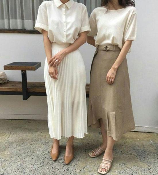 Модная юбка-миди на весну 2020