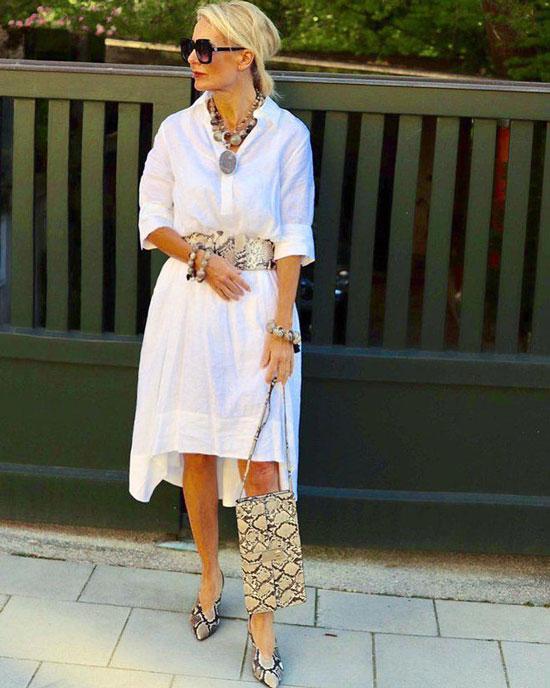 Модные модели платьев для женщин за 50