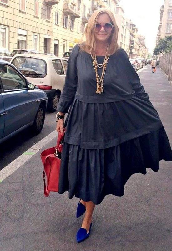 Актуальные платья для полных женщин 50 лет